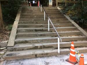 橿原市 神社 階段 修理